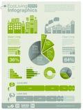 графики info экологичности Стоковые Фотографии RF