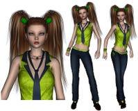 Графики Poser девочка-подростка иллюстрация штока