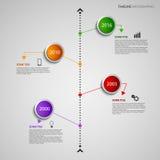 График данным по границы временной рамки с покрашенным шаблоном указателей дизайна круглым Стоковые Изображения