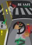 График безопасности дорожного движения Стоковые Изображения RF