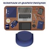 График-дизайнер рабочего места, фотограф r бесплатная иллюстрация