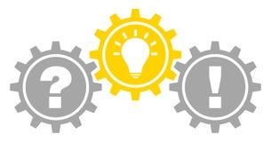 График 3 зацепляет заполненный план идеи и ответа вопроса серый желтый иллюстрация вектора