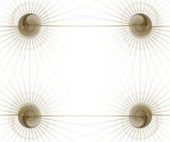 график золота дела граници шариков Стоковая Фотография RF