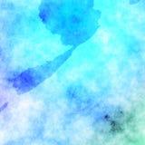 График дизайна предпосылки голубого влияния текстуры картины акварели красивый бесплатная иллюстрация