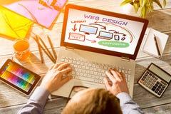 График-дизайнер на работе характерные образцы печатания давления индустрии изображения цвета pre стоковое фото