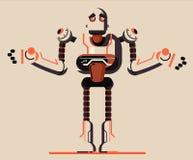 График иллюстрации робота иллюстрация вектора
