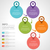 График информации Стоковые Фотографии RF