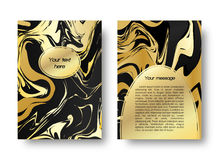 График карточки мраморный Стоковые Фотографии RF