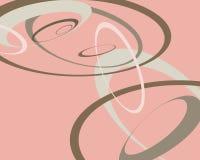 график конструкции кругов ретро Стоковая Фотография