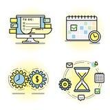 График контроля времени и планированиe бизнеса Стоковые Фотографии RF
