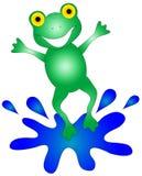 график лягушки счастливый Стоковое Изображение RF