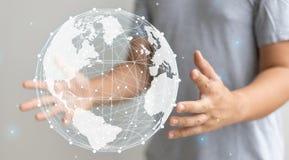 График мира руки присутствующий стоковые фотографии rf