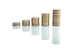 график монетки Стоковые Изображения RF