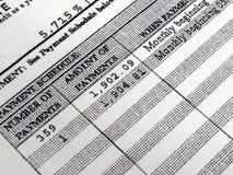 график платежей ипотеки Стоковая Фотография