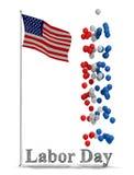 График рогульки Дня Трудаа Стоковое Изображение RF