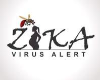 График сигнала тревоги вируса Zika, идеальный для информационной и ведомственной санобработки и родственной заботы Стоковое фото RF