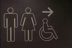 График символа в туалете Стоковое Изображение RF
