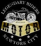 График тройника логотипа мотоцикла Стоковое Фото