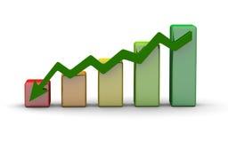 график финансов диаграммы диаграммы дела штанги иллюстрация вектора
