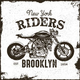 График футболки всадников мотоцикла Бесплатная Иллюстрация