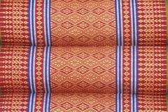 График хлопка тайского типа ручной работы на текстуре подушки Стоковая Фотография