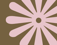 график цветка конструкции ретро Стоковые Фото
