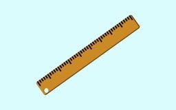График школы инструмента правителя шаржа деревянный Бесплатная Иллюстрация