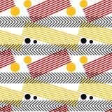 График Stripes безшовная картина Стоковое фото RF