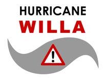 График Willa урагана стоковые изображения