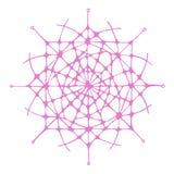 Графическая абстрактная иллюстрация снежинки Стоковое фото RF