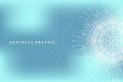 Графическая абстрактная связь предпосылки Большое визуализирование данных Стоковые Изображения