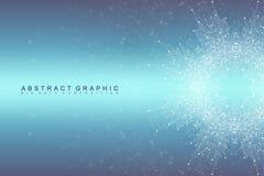 Графическая абстрактная связь предпосылки Большое визуализирование данных Соединенные линии с точками Социальные сети Стоковое Изображение RF