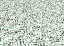 Графическая банкнота доллара США в картине обоев Стоковые Фотографии RF