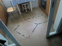 Графическая демонстрация Pythagorean теоремы стоковая фотография
