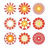 графическая икона круглая Стоковое Изображение
