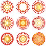 графическая икона круглая Стоковые Изображения