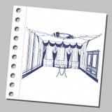 Графическая иллюстрация с декоративной архитектурой 17 Стоковое Изображение RF