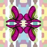 Графическая иллюстрация eps10 вектора печати пинка бабочек картины иллюстрация штока