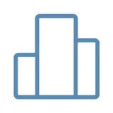 Графическая линия бара значок Стоковая Фотография RF
