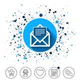 графическая почта иллюстрации иконы Символ конверта Знак сообщения Стоковое фото RF
