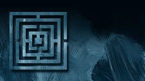 Графическая предпосылка конспекта лабиринта Стоковое фото RF