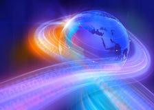 Графическая предпосылка мира цифров бинарная Стоковые Изображения RF