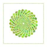 Графическая сеть косоугольника в концентрическом круге с открытым ядром конструируйте график также вектор иллюстрации притяжки co Стоковое фото RF