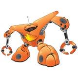 графическая сеть робота иллюстрация вектора