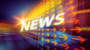 Графическая современная цифровая предпосылка III мировых новостей Стоковая Фотография RF