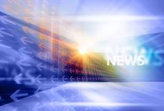 Графическая современная цифровая предпосылка VI мировых новостей Стоковое Фото