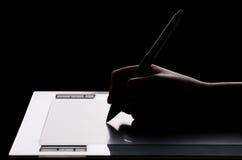 графическая таблетка руки Стоковые Фото