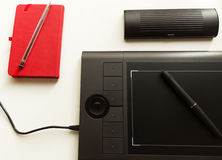 Графическая таблетка/таблетка ручки Стоковые Фото