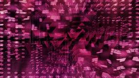 Графическая фиолетовая предпосылка калейдоскопа Стоковая Фотография