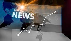 Графическая экономическая предпосылка новостей Стоковые Изображения RF